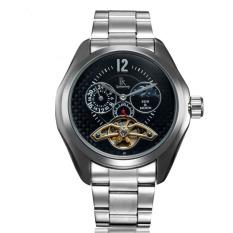 Weishi IK In Which Qi Mechanical Watch Tourbillon Automatic Mens Watch Multifunction Watch Mens Black Black Black Belt Stars