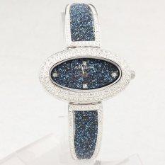 Weishi Marisa Watches Damen Korean Fashion Star Bright Diamond Bracelet Bracelet Watch Oval Watch