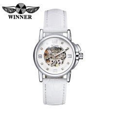 WINNER Fashion OL Style Watch High Quality Hollowed-out Self-winding Automatic Mechanical Women Wristwatch