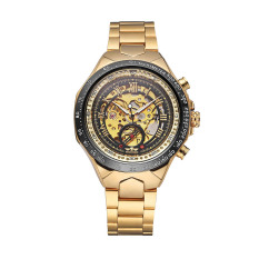 WINNER High Quality Men Automatic Mechanical Watch Big Dial Self-winding Business Skeleton Hollowed-out Wristwatch - Intl
