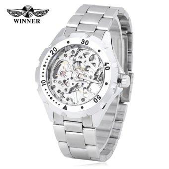 Winner Male Auto Mechanical Watch Visible Dial Luminous Men Wristwatch - intl