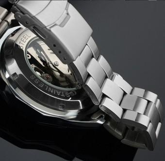 Pemenang Men Dial Mekanis Otomatis Kerangka Stainless Steel Perhiasan ( Putih) .