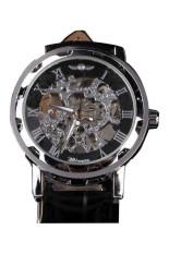 WINNER Men's Black Leather Strap Watch 001