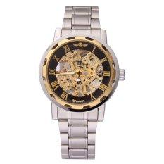 WINNER Men's Business Mechanical Wrist Watch (Gold & Black) (Intl)