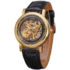 Winner Men's Mechanical Hand-wind Skeleton Watch WRG8001M3G1