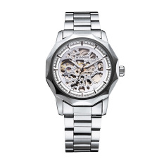WINNER Trendy Business Style Skeleton Automatic Mechanical Watch Luxury Shining Self-winding Unisex Wristwatch - Intl