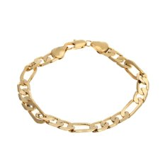 WiseBuy Mens Boys Gold Palted Link Chain Bracelet Bangle Fashion Jewelry High Quality (Intl)