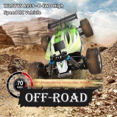 WLtoys A959-B 4WD Off Road kendaraan 2. 4G 540 menyikat Motor mobil RC lain (hijau)