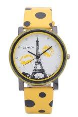 WoMaGe Women Lady Paris Eiffel Tower Lip Spots Pattern Quartz Wrist Watches (Orange) (Intl)