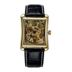 Womdee Brand OUYAWEI 1222 Business Males Watches Vintage Rectangle Case Elegant Men's Mechanical Skeleton Watch Relogios Masculino