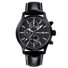 Womdee Switzerland Ochstin Genuine New Men's Sports Watch Waterproof 6-pin Male Personality Watch Big Dial Leather (White) (Intl)