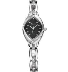 Women Bracelet Watch Luxury Diamond Gold Wristwatch Analog Display Quartz Wristwatch Black (Intl)