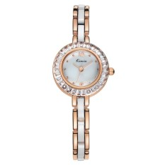 Women Watch Fashion Analog Display Quartz Watch Women Luxury Brand Rhinestone Wristwatches Rose Gold (Intl)