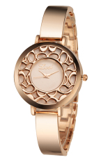 Women Elegant Rhinestone Hollowed Watches Quartz Analog Bracelet Wrist Watches 2015 Hot Fashion Dress Watch High Quality (Intl)