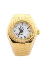 Women Gold Tone Ring Finger Watch