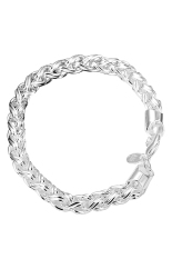Women Lady 925 Sterling Silver Twisted Bracelet Chain Cuff Bangle Jewelry Gift