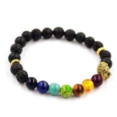 Women Men Bracelet Elastic Beaded Bracelet Tibet Charm Bracelets Black