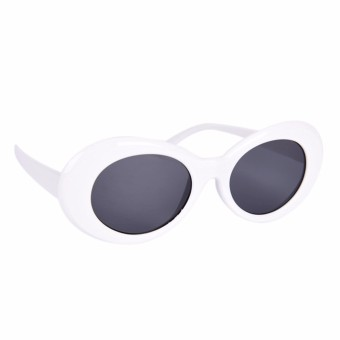 Women Men Kurt Cobain Mirrored Glasses Sunglasses Vintage Round White - intl
