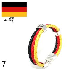 World Cup FIFA Soccer Fans National Flag Color Mens Womens Leather Bracelet Germany - Intl