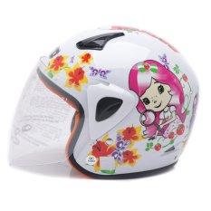 WTO Helmet Kids Kop - Berry Rush - Putih