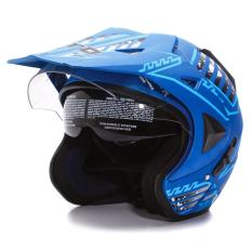 WTO Helmet Pro-Sight Cross - Seablue Doff