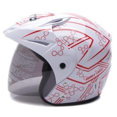 WTO Helmet Z1R PET - Bubble - Putih Merah