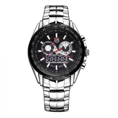 xaqiwe TVG brand double movement dual display with luminous timed alarm sound show week Men's Watch