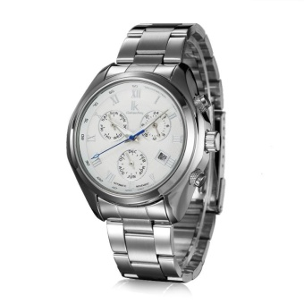 xfsmy IK ADA APA automatic mechanical watches Mens watch three eyes six multifunctional needle tide's 98180G (White) - intl