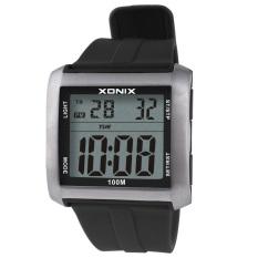 Xonix Multifungsi Tahan Air Berlari Hitung Waktu Jam Tangan LCD Jam Digitec
