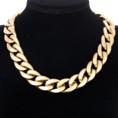 Yazilind Gold Twist Necklace