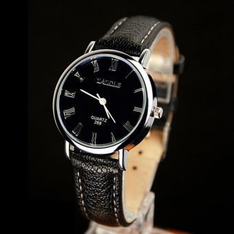 YAZOLE Classical Women Leather Band Fashion Joker Bussiness Quartz Wrist Watch YZL268H-B-Black