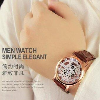 YAZOLE Classical Women Leather Band Fashion Joker Bussiness Quartz Wrist Watch YZL321N-Brown - intl