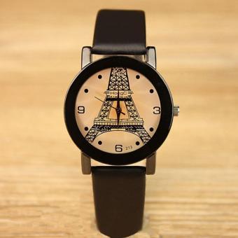 YAZOLE Classical Women Leather Band Fashion Joker Caulse Quartz Wrist Watch YZL213-B-Black