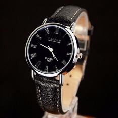 YAZOLE Quartz Watches Women Luxury Simple Fashion Wristwatch Female Clock Wrist Watch Lady Quartz-watch Black Dial with Black Strap - Intl