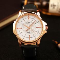 YAZOLE Top Luxury Brand Watch Men Watches Business Male Quartz Wristwatches Waterproof Quartz-watch YZL358-Black - Intl