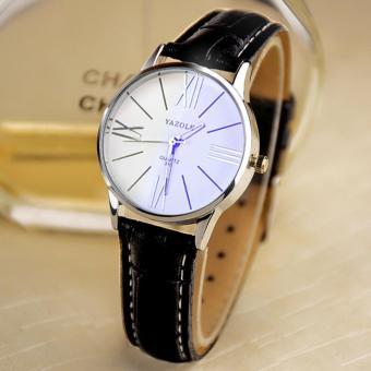 YAZOLE Watches Classical Women Leather Band Fashion Joker Bussiness Quartz Wrist Watch YZL315-B-