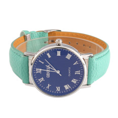 YBC Leisure Waterproof Watch Lovers Leather Wristwatch Green - intl