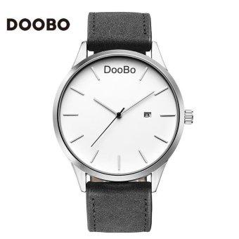 YBC pria Fashion kasual quartz PU kulit bisnis og bulat Dial jam tangan