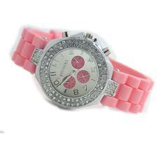 Yika Women's Silicone Strap Watch (Pink) (Intl)