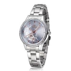 YJJZB Brand Skone Steel Watches Peony Carved Watch Dial Premium Women's Business