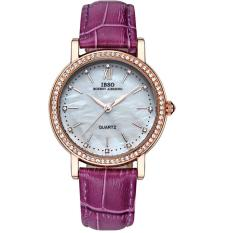 YJJZB IBSO Date Elegant Shell Dial Watch For Women Fashion Travel Genuine Leather Strap Watch Woman High Quality Relojes De Mujer 2016