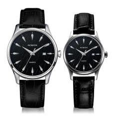 YJJZB OCHSTIN Swiss Fashion Watch Men Casual Watch Men And Women Really Belt Waterproof Quartz Watch Lovers Custom Table (Black)