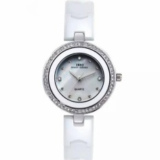 yongcai IBSO The Small Dial Ceramic Watches Diamond Watch FashionJoker Ladies For Lady Lover Watches High-Grade Watch (White) - intl