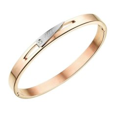 Yoursfs Valentin's Day Gift Rose Gold Plated Stainless Steel Women Fashion Bracelet (Intl)