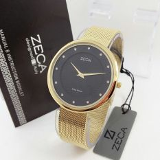 Zeca - Jam Tangan Wanita - Stainless Steel - Zeca ZC1001 Black Gold