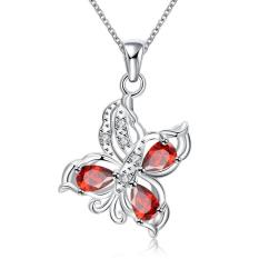 ZUNCLE 925 Silver Plated Necklace Brand Design Pendant Necklaces Jewelry For Women (Gold) (Intl)