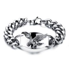 ZUNCLE Eagle Wings Titanium Steel Bracelets (Silver)