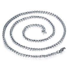 ZUNCLE Korea 316L Titanium Steel Women / Men / Unisex Necklace Jewelry Wholesale (Silver) &#8211.3 Mm x 450 Mm