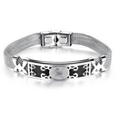 ZUNCLE Korea Constellation Hollow Men / Women Unisex Bracelet Bangles (Silver) -Leo