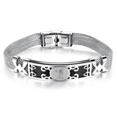 ZUNCLE Korea Constellation Hollow Men / Women Unisex Bracelet Bangles (Silver) -Virgo